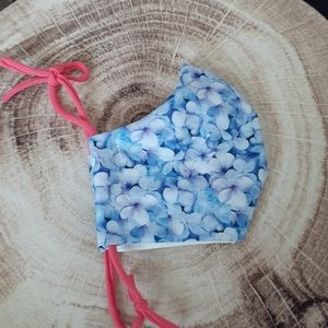 Handmade Cotton Pastel Floral Fitted Mask